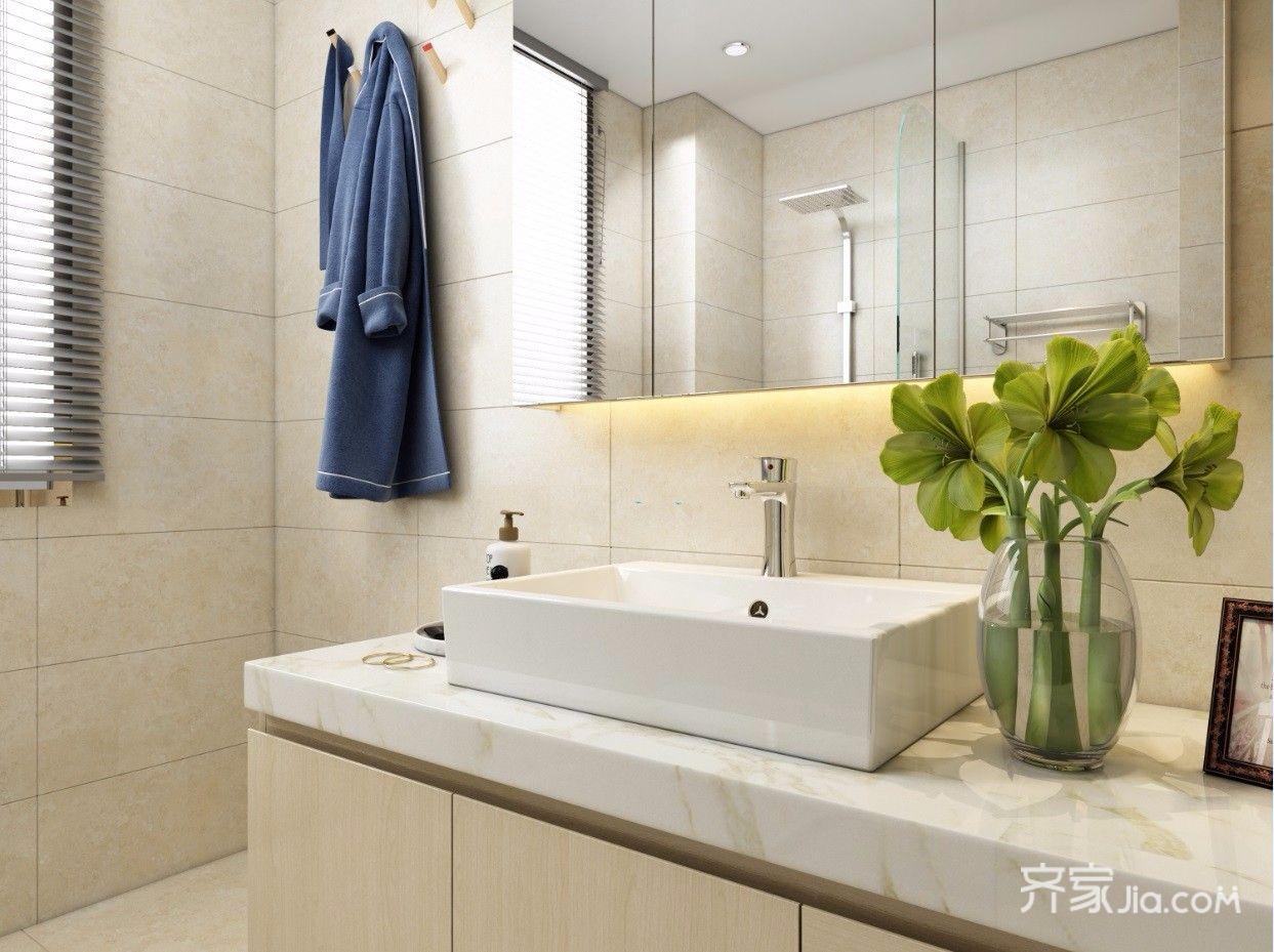 两居室现代简约卫生间装修效果图