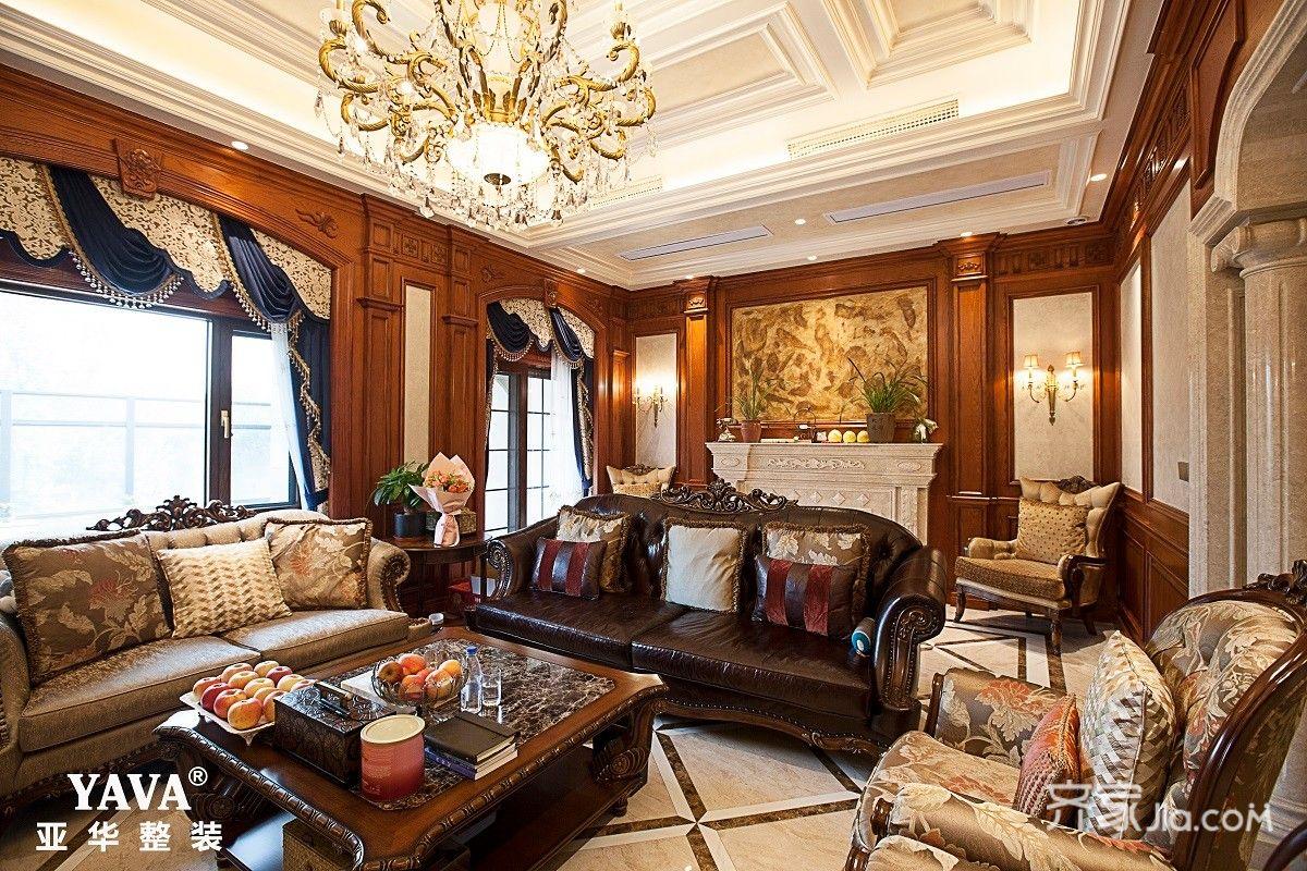 古典欧式别墅客厅装修设计效果图