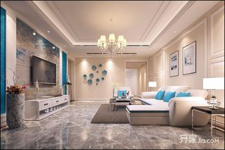大户型现代风格三居装修效果图