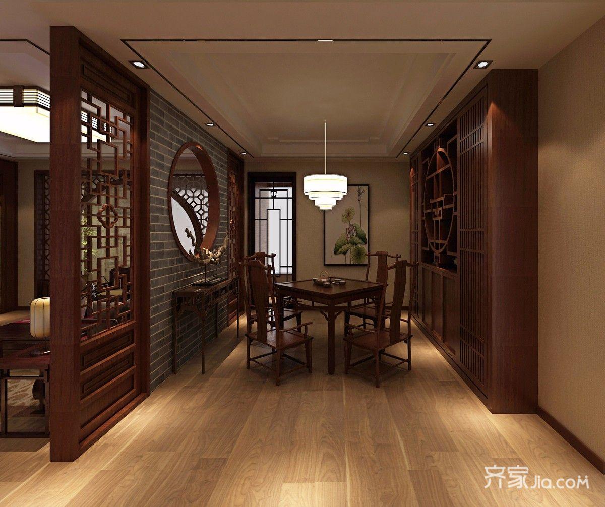 中式风格四居室餐厅装修效果图