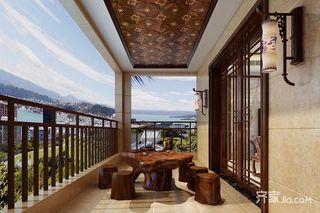 大户型复式中式阳台装修效果图