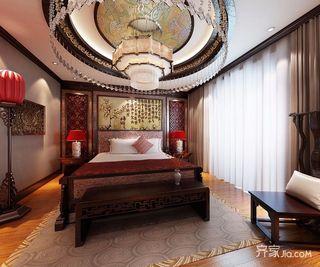 奢华中式风格别墅卧室装修效果图