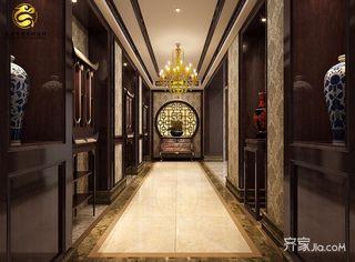 古典中式风格别墅玄关装修效果图