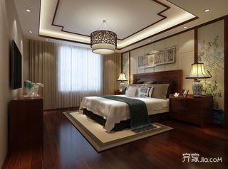 130平米中式三居卧室装修效果图