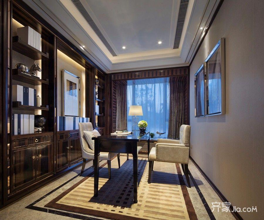 现代古典三居室书房装修效果图