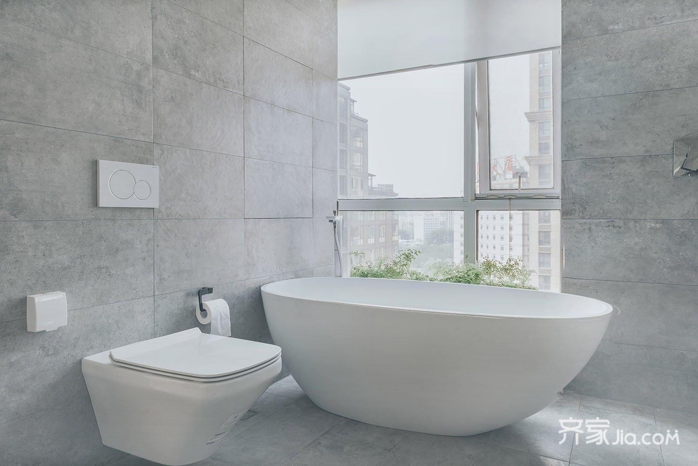 极简风格二居室卫生间装修效果图