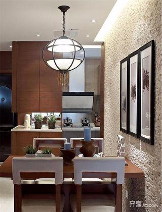 120平中式风格三居餐厅装修效果图