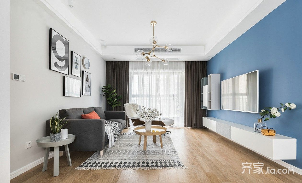 北欧风两居客厅装修设计效果图