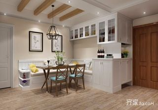 96平美式风格二居餐厅装修效果图