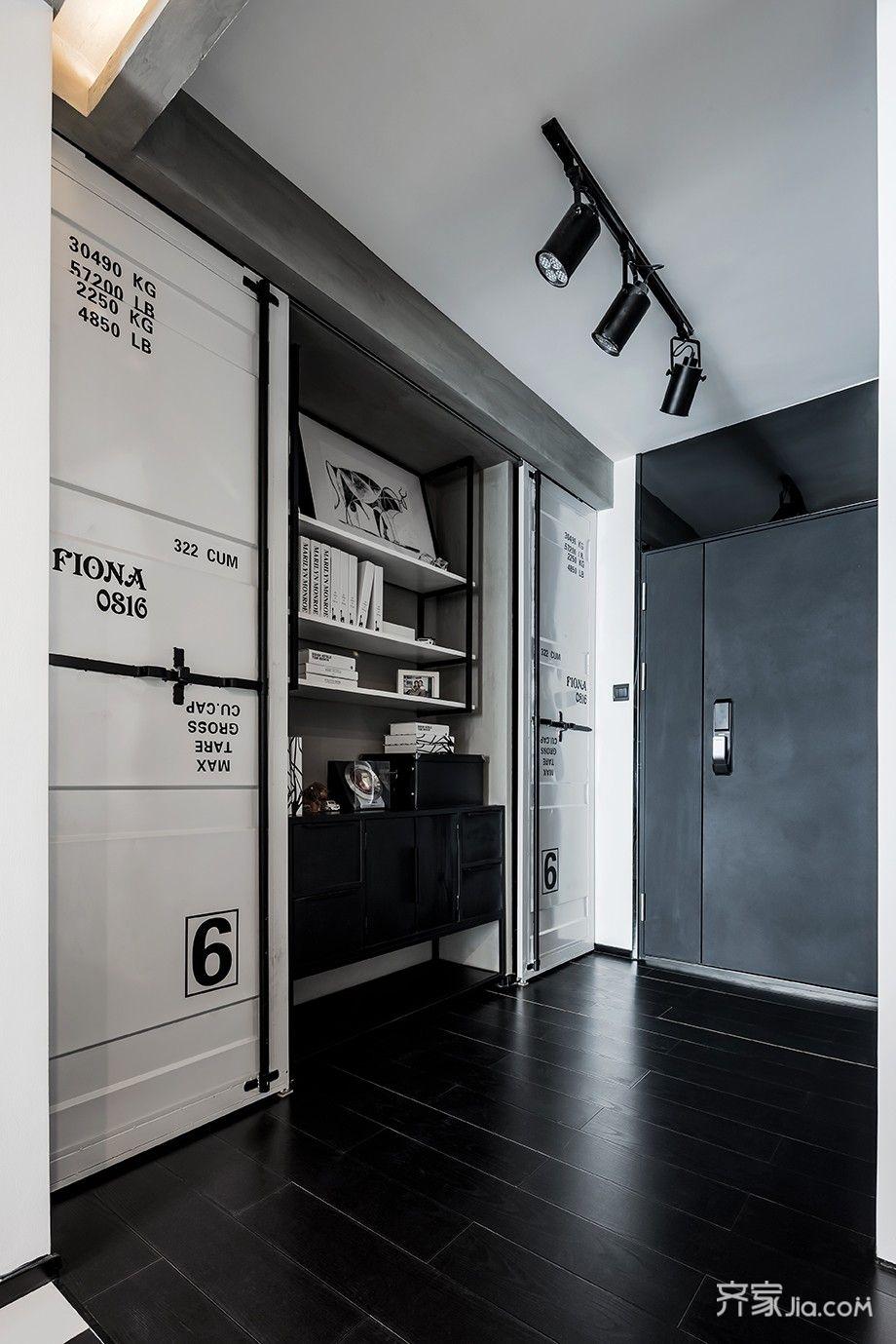 小户型工业风公寓玄关装修效果图