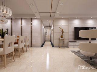 90平现代简约二居室装修客餐厅过道