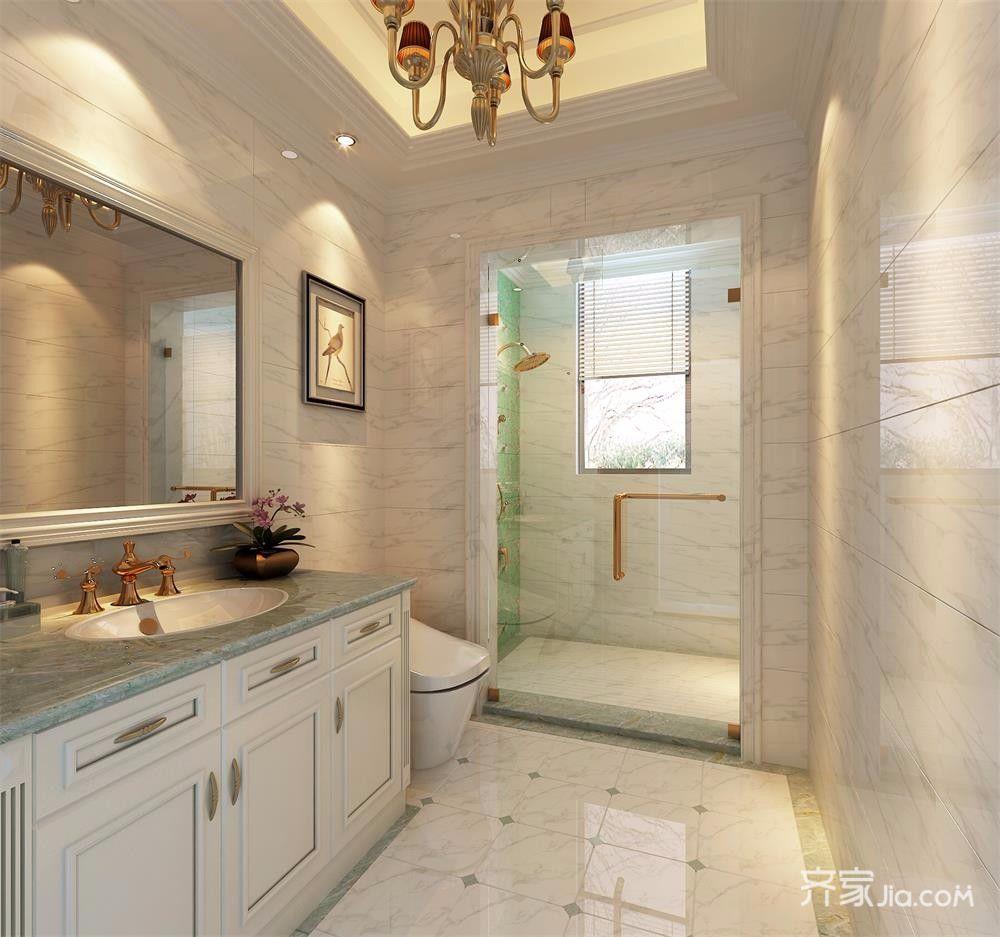 复式简欧风格别墅卫生间装修效果图