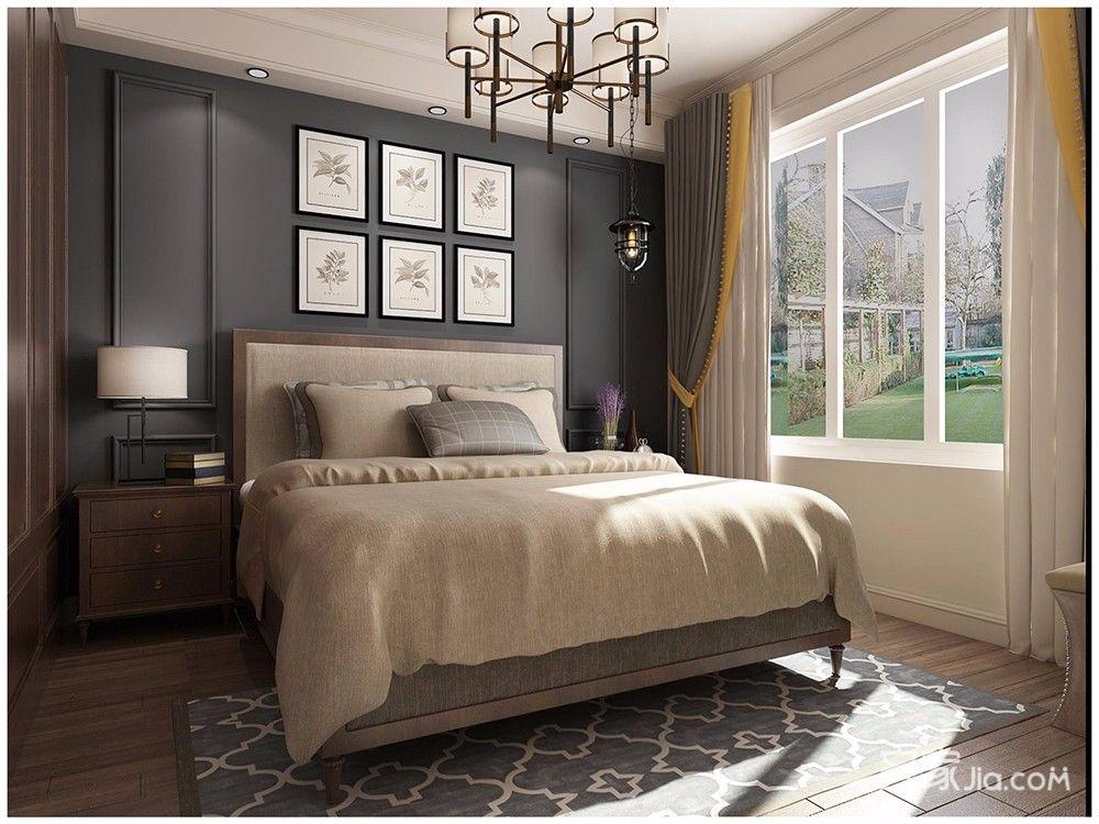 140㎡美式风格四居卧室装修设计图