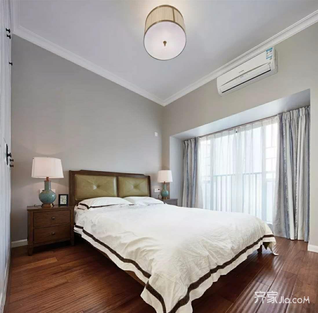 130平中式风三居卧室装修效果图