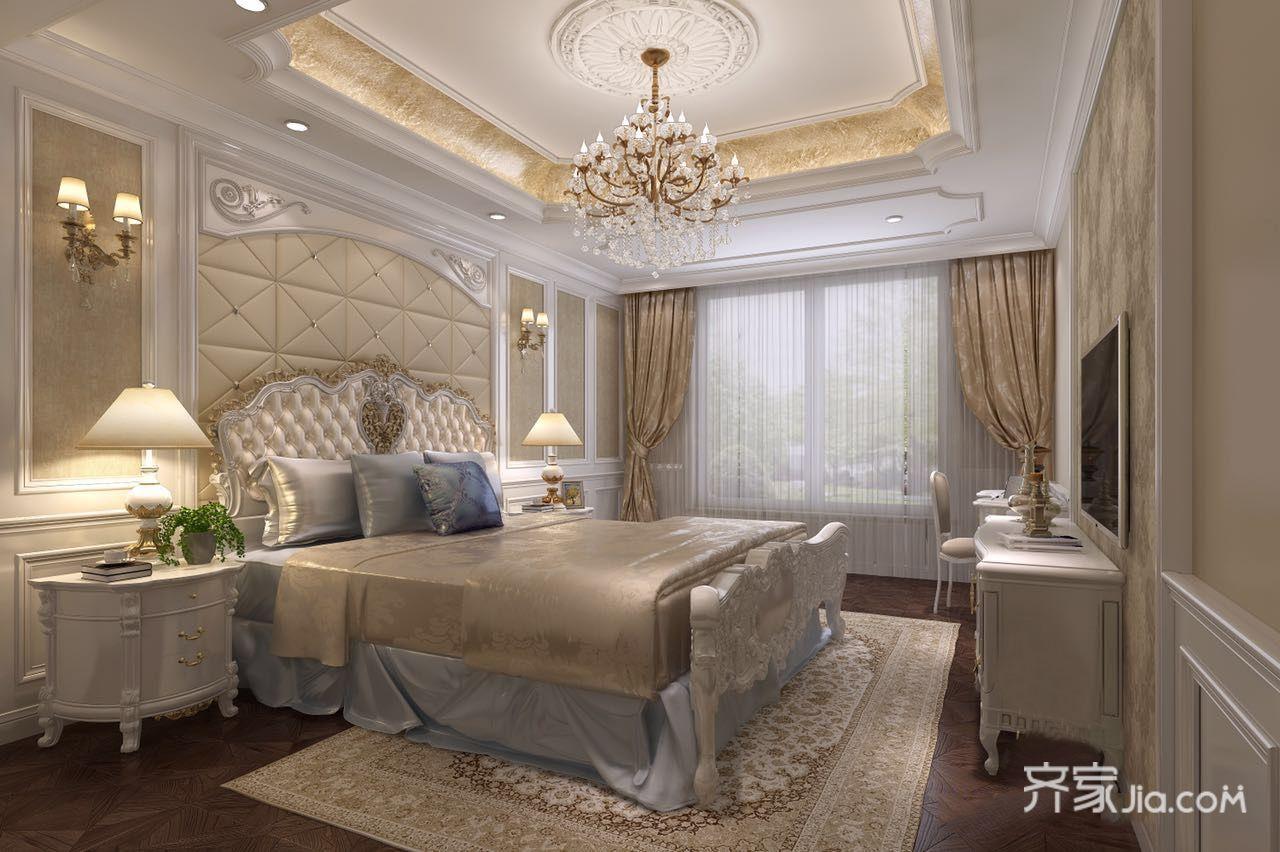 大户型豪华欧式别墅卧室装修设计图