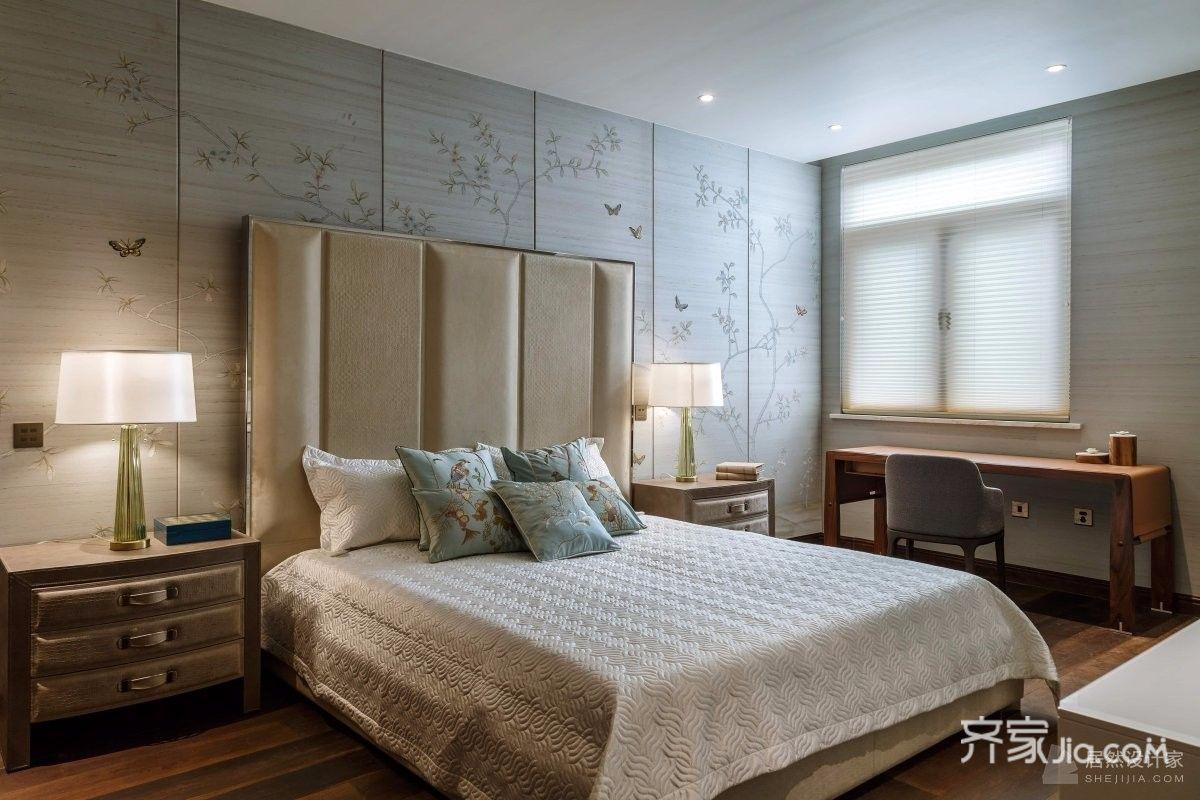 大户型新中式四居卧室装修设计图