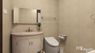 110㎡欧式风格三居卫生间装修效果图