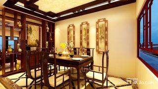 135平中式风格三居餐厅装修效果图