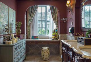 美式乡村风格四居室卫生间装修效果图
