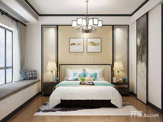 现代中式风格别墅卧室装修设计图