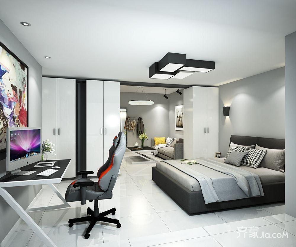 现代简约风两居卧室装修效果图
