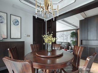 现代中式风格四居装修餐桌椅设计图