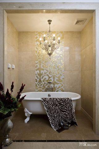 简欧风格复式别墅卫生间装修效果图