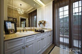 简欧风格复式别墅装修洗手台设计图