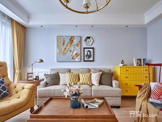 140平美式三居装修设计效果图