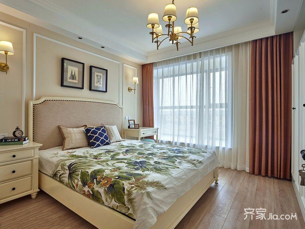 140平美式三居卧室装修设计效果图