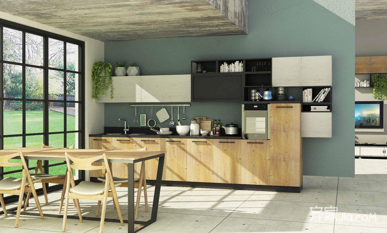 宜家风格二居室厨房装修效果图