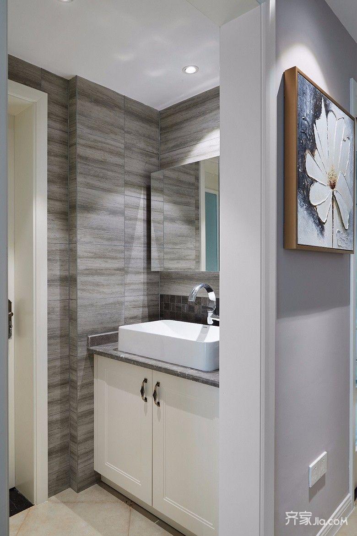 100㎡美式风格三居装修洗手台设计图