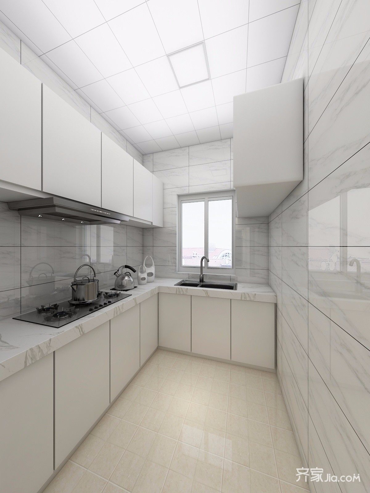 小户型现代简约风格厨房装修效果图
