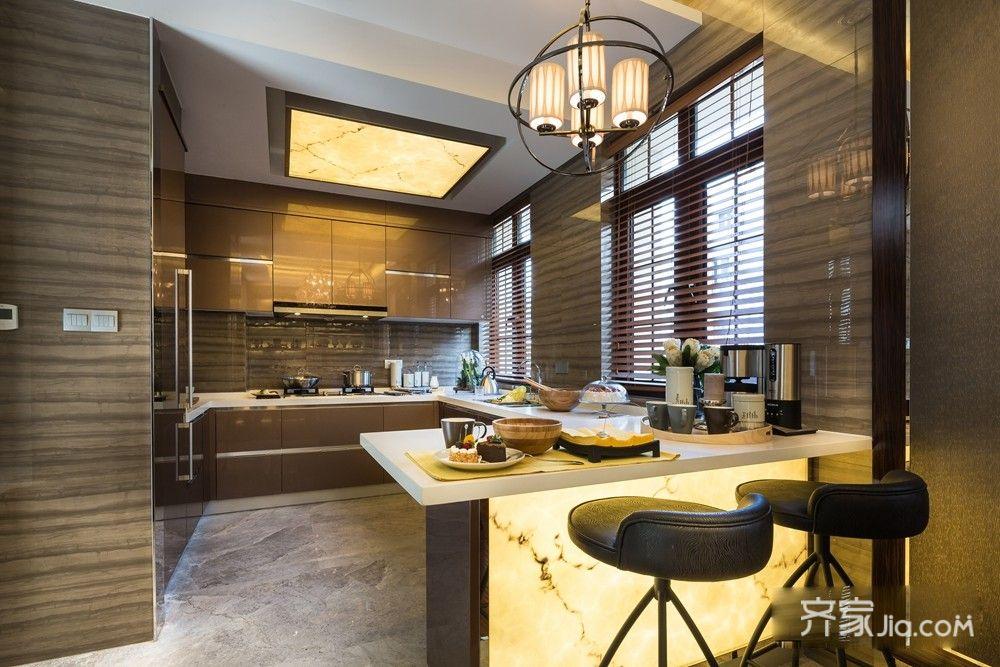 230平欧式别墅厨房装修效果图