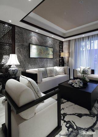 110平新中式三居装修效果图