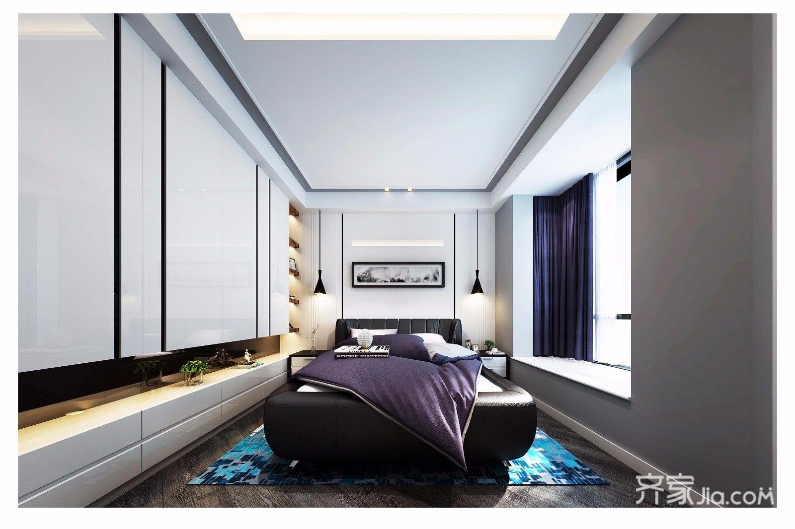 现代混搭风格三居卧室装修设计图