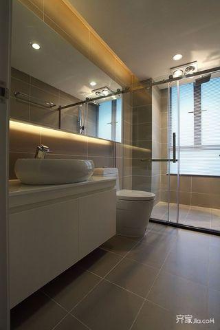 北欧混搭风格两居装修浴室柜设计图
