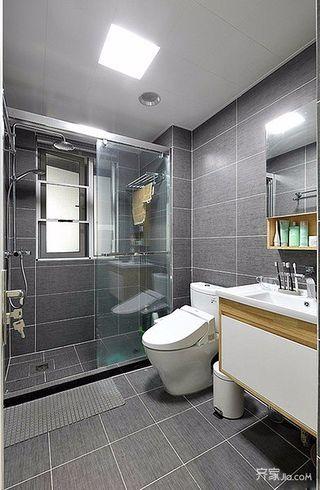 90㎡北欧风格三居卫生间装修效果图