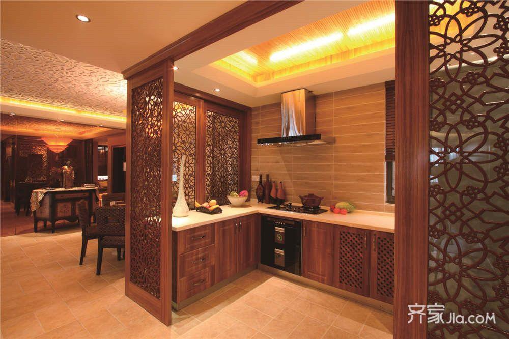 东南亚风格大户型装修厨房效果图