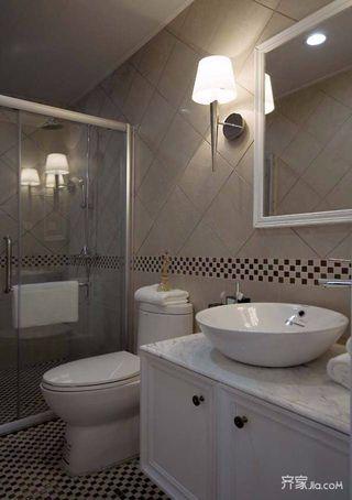 140㎡简约风格三居卫生间装修设计图