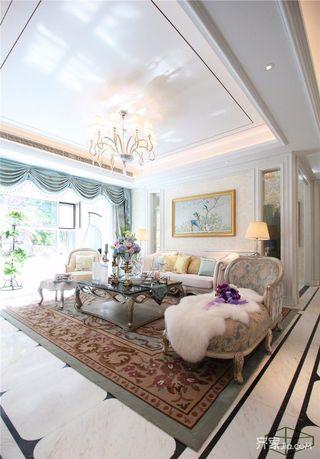 欧式古典三居室装修设计效果图