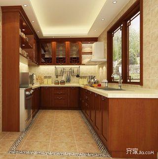 138平中式风格四居厨房装修效果图