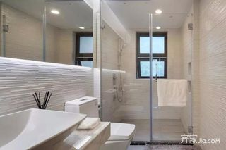 120㎡三居新中式卫生间装修效果图