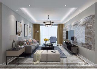 120㎡现代简约三居室装修效果图