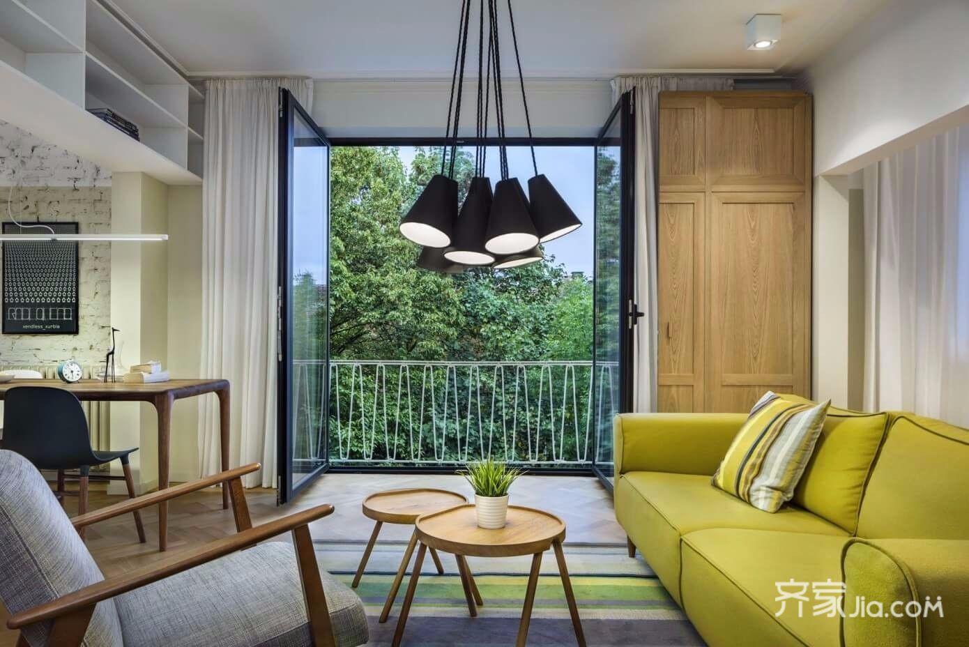 北欧风两居小复式装修客厅搭配图