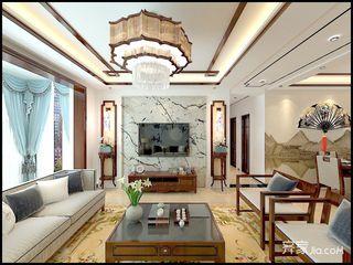 110㎡新中式三居室装修效果图