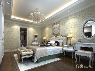 170平米美式风格卧室背景墙装修效果图