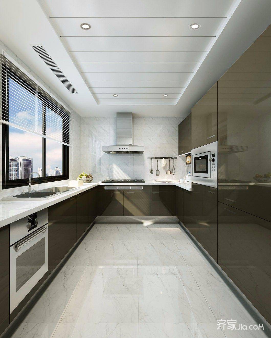 130平米现代风格厨房装修效果图