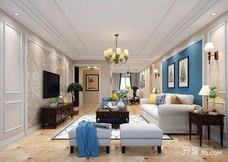 140平美式风格四居装修效果图