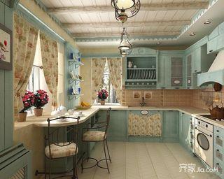 138平地中海风三居厨房装修效果图